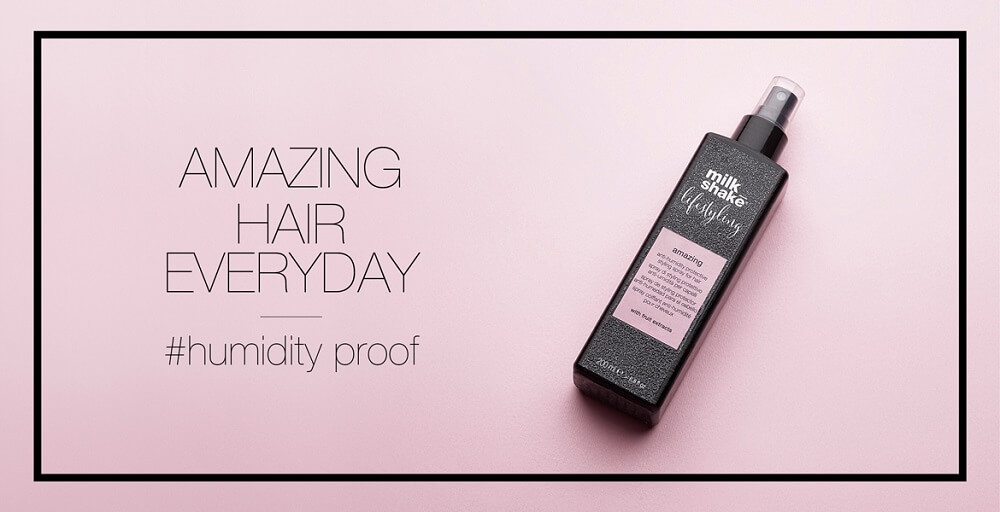 ¿Sueñas con un cabello a prueba de humedad? Descubre milk_shake® lifestyling amazing